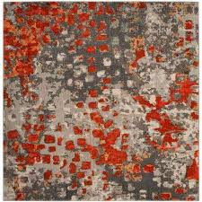Area Rugs Orange Orange Square 7 And Larger Area Rugs Rugs The Home Depot