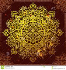 snowflake mandala ornament stock vector image 63755470