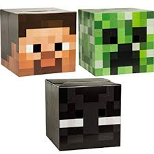 Minecraft Enderman Halloween Costume Amazon Minecraft Head Costume Mask Steve Creeper
