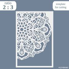 laser cut wedding card template paper openwork greeting card