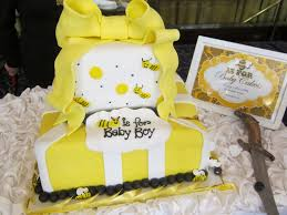 bumblebee baby shower this we cake table the cakes were