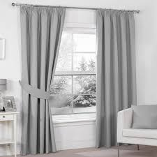 Pencil Pleat Curtains Decorations Silver Grey Luxury Thermal Blackout Pencil Pleat