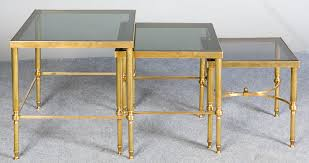 buy nest of tables antiques atlas retro nest of brass and glass tables