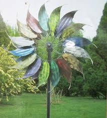 Kinetic Garden Art Amazon Com Metal Wind Garden Art Feathered Leaves Design 84