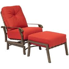Orange Patio Cushions by Decorating Rattan Chair With Lowes Patio Cushions Plus Foot Rest