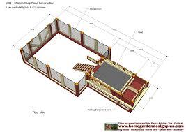 Chicken Coop Floor Plan Home Garden Plans S101 Chicken Coop Plans Construction