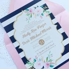 Blush Wedding Invitations Navy And Blush Wedding Invitations Marialonghi Com