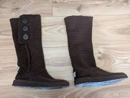 s ugg cardy boots ugg cardy style knitted boots in brown uk 6 5 ebay