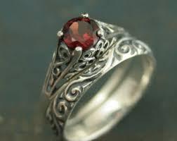 antique garnet ring etsy