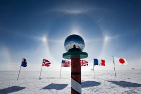 Antarctic Flag Antarctic Photo Library Photo Details Ceremonialpolesundog2 Jpg