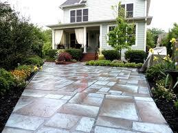 Backyard Concrete Patio Designs Overwhelming Concrete Patio Overlay Picture Ideas Deas Backyard