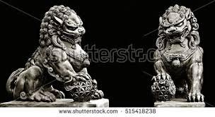 foo dog lion statue guardian lion foo fu stock photo 515418238