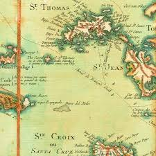 Map Of The Caribbean Islands Map Of The Virgin Islands 1779 Les Vierges Bvi Usvi