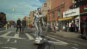 video jesse wellens as silver surfer in new york city for