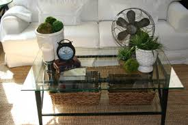 Decorating Ideas For Coffee Table Furniture Luxury Coffee Table Decor Idea With Glass Candle