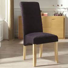Aubergine Dining Chairs Ameera Dining Chair In Plain Aubergine Fabric And Oak In A