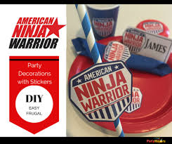 american warrior decorations diy with stickers