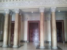 Glorious Neoclassical Interior Columns With Rounded Taper Plain