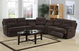 Brown Leather Sectional Sofas With Recliners Corner Sectional Sofa With Recliners Centerfordemocracy Org