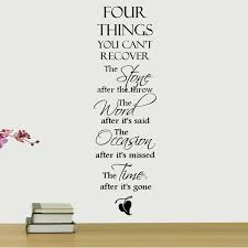 decalthewalls four things you can t recover quote wall decal
