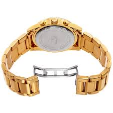 stainless steel gold bracelet images Akribos xxiv men 39 s multifunction tachymeter stainless steel gold jpg
