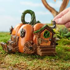 pumpkin carriage miniature pumpkin carriage fairy garden house fairy garden