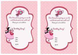 tea party birthday invitations u2013 birthday printable