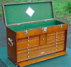 metal box and cabinet corp chicago antique vintage gerstner 052 oak tool box chest cabinet machinist