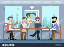 Office Work Images Business Meeting Team Working Office Work Stock Vector 363831713