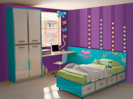 Fine Girls Bedroom Purple And Blue On Design Inspiration - Blue and purple bedroom ideas