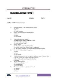 lagos city with question and answer worksheet page image
