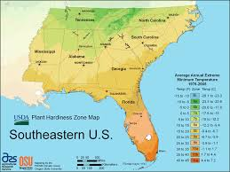 temperature map florida dacula and gwinnett county weather southeast us growing zones