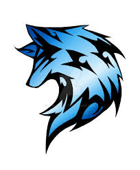 blue tribal wolf by dracospire on deviantart