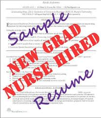 New Graduate Nurse Resume Template New Graduate Nurse Resume Examples Cbshow Co