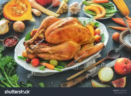 roasted whole turkey cooking ingredients on stock photo 725454703