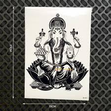 Tattoo Home Decor Aliexpress Com Buy Elephant Ganesha Designs Tattoo Black