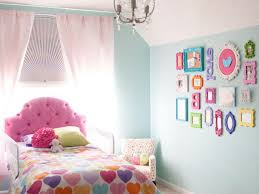 bedroom gallery wall design ideas combined with light blue wall
