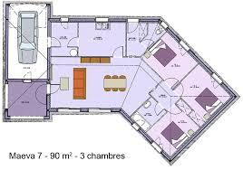 plan de maison en v plain pied 4 chambres modèle et plans maeva 7 3 ch du constructeur maisons sic