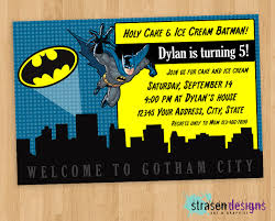batman birthday invitation diy printable by strasendesigns on etsy