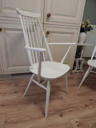 Ercol Windsor Rocking Chair Stunning Large Vintage Solid Oak Refectory Table U0026 6 Ercol