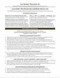 Job Description In Resume by Paramedic Resume Berathen Com