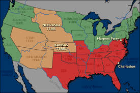map of is states a bio of america the coming of the civil war maps