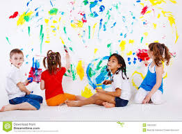 kids painting stock image image 1580841