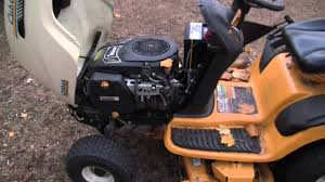 backfiring cub cadet lt1045 youtube