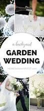 a simple backyard wedding ceremony and reception garden wedding