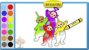 learn colors kids color teletubbies coloring pt 34