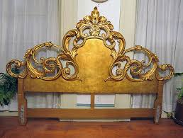 fantastic king sized french venetian gold leaf rococo carved wood