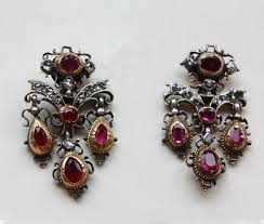 girandole earrings diamond and ruby girandole earrings inez stodel