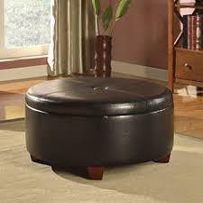 Leather Ottoman Round by Storage Ottomans U0026 Ottoman Coffee Tables