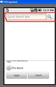 android start activity android start user defined activity on search button pressed